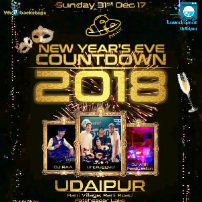 New Years Eve COUNTDOWN 2018 Udaipur