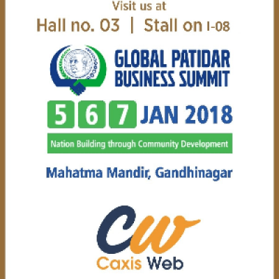 Invitation of Caxis-Web exhibition at Global Patidar