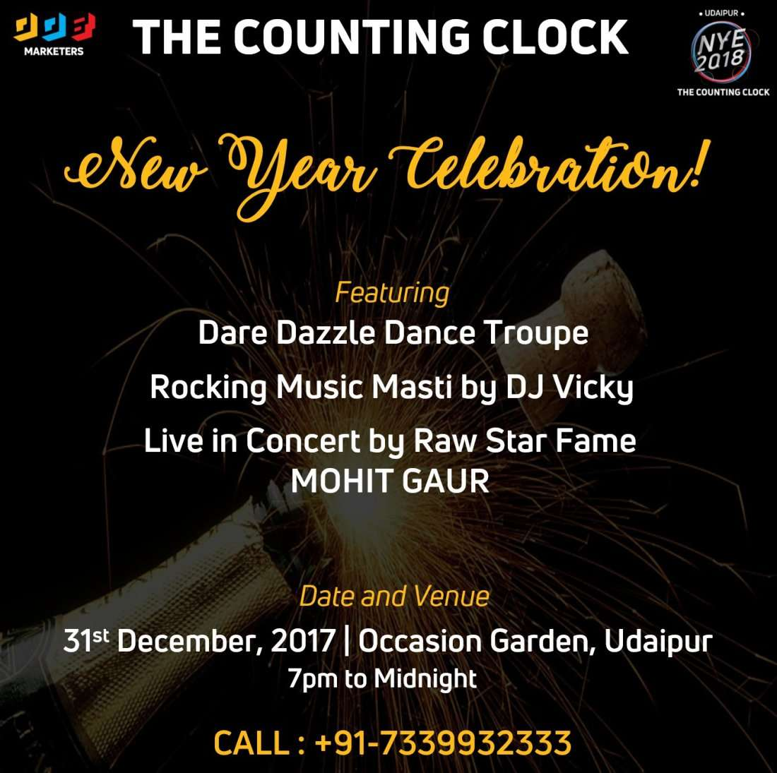 The Counting Clock New Year Eve 2018