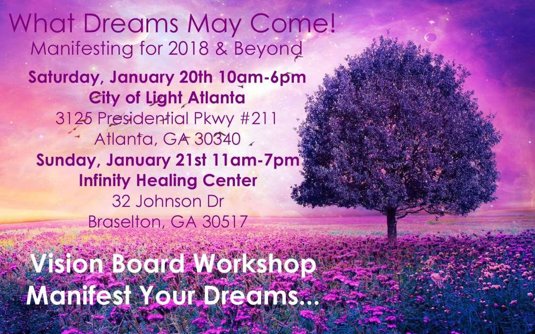 2 LOCATIONS - Full Day Vision Board Workshop Manifesting for 2018 & Beyond