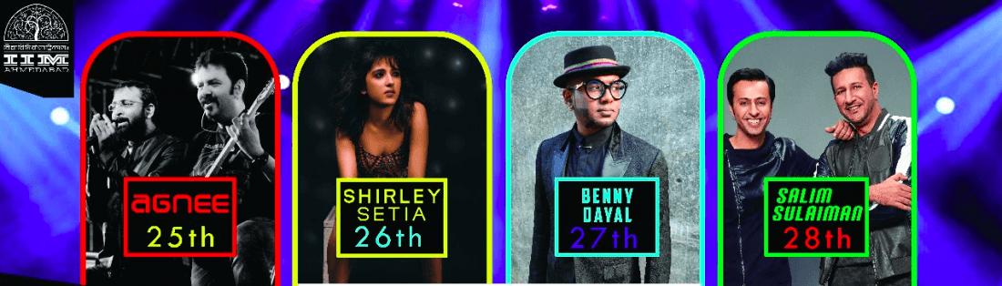Salim-Sulaiman Benny Dayal Shirley Setia Agnee live (IIMA Chaos 2018)