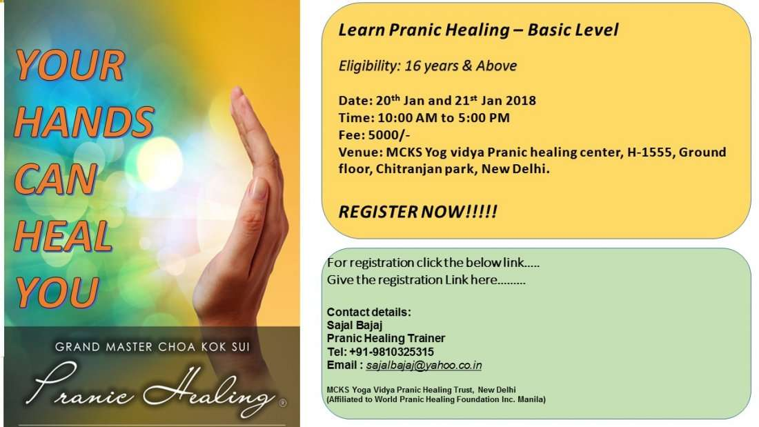 Pranic Healing Workshop - You can believe in miracle