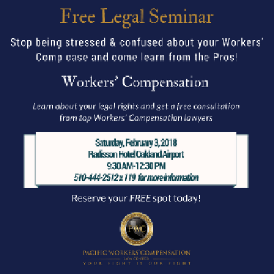 Free Legal Seminar Workers Compensation