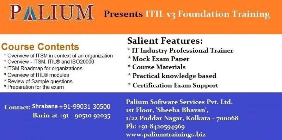 Itil V3 Foundation Training And Certification In Kolkata Kolkata
