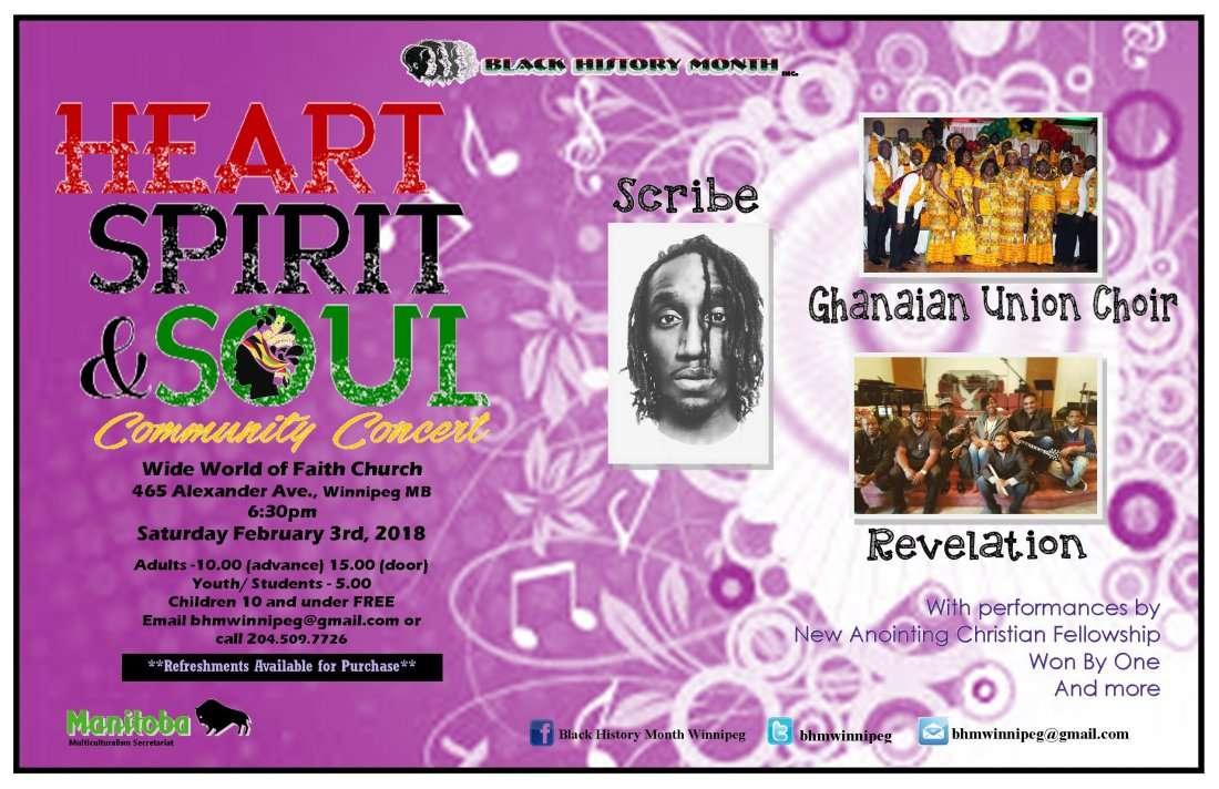 BHM 2018 Heart Spirit and Soul Community Concert