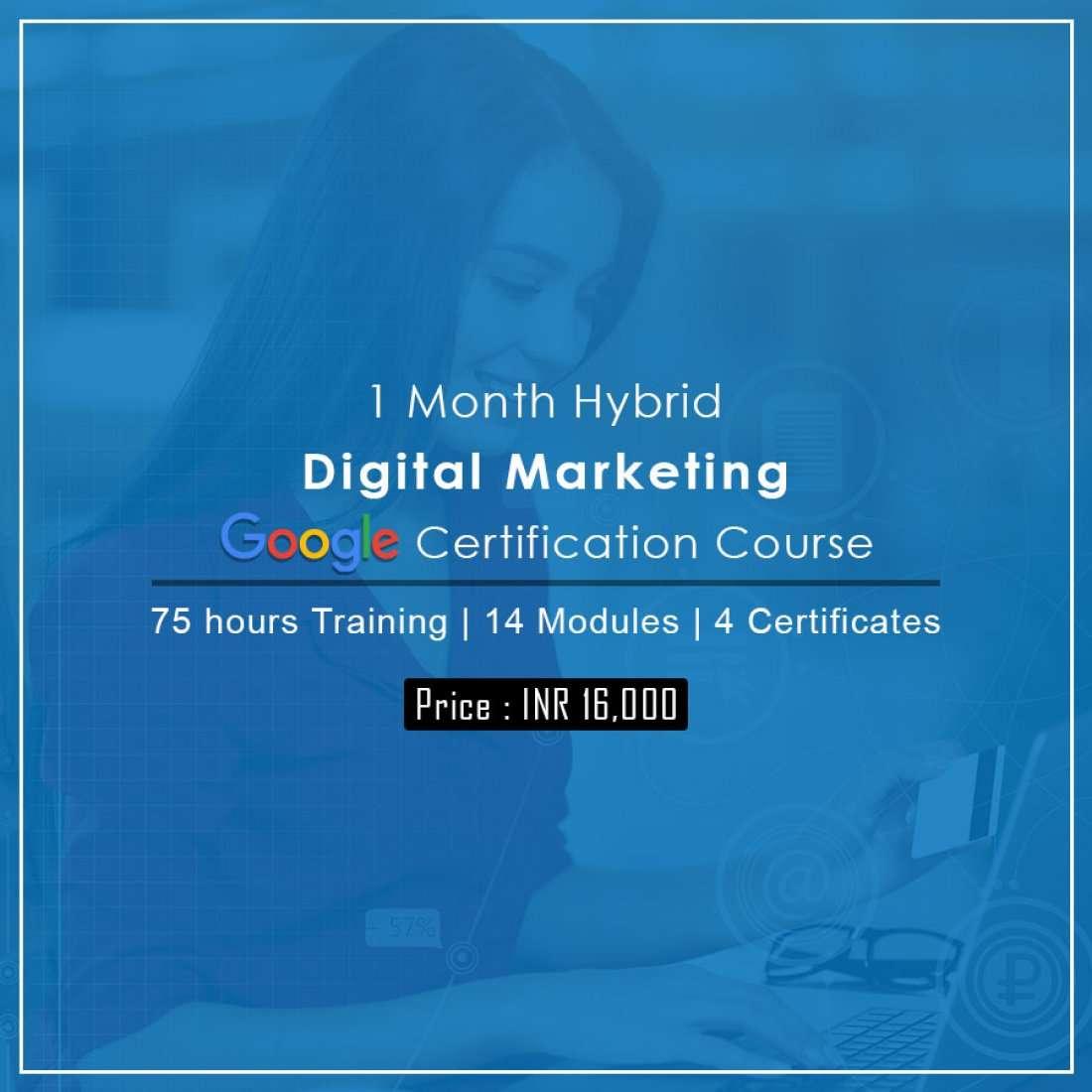 1 Month Digital Marketing - Google Certification Program