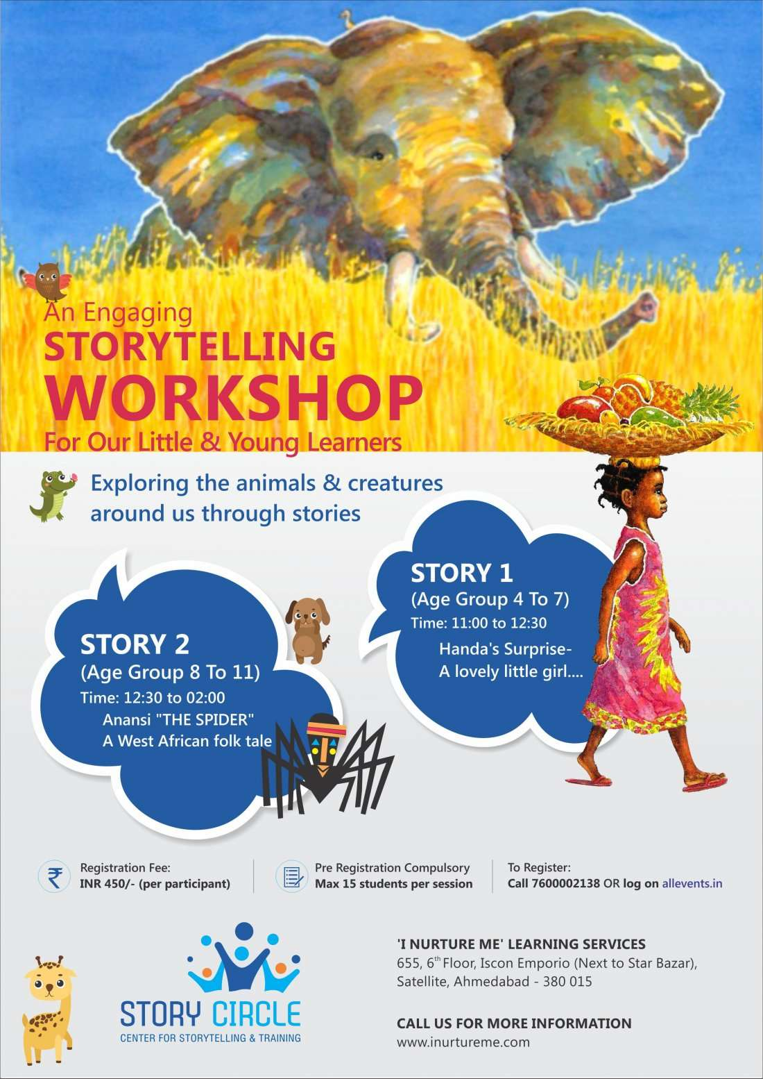 Hakuna Matata African Folk Storytelling workshop for children aged 4 to 10 yrs