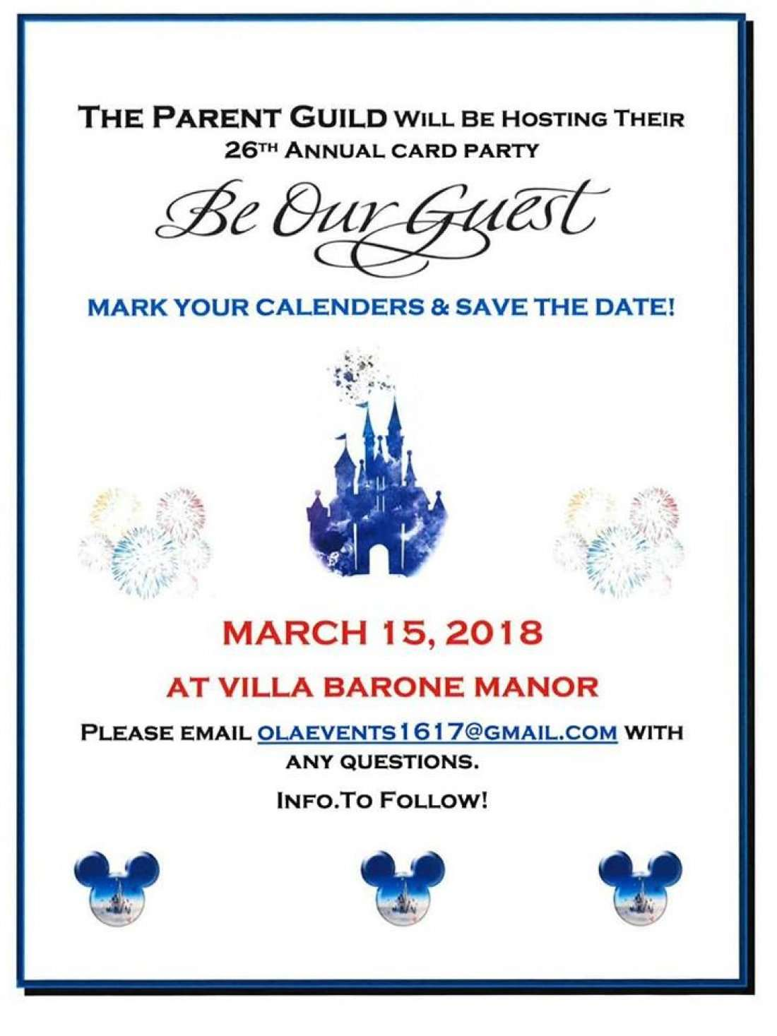 OLAs 26th Annual Card Party Be Our Guest