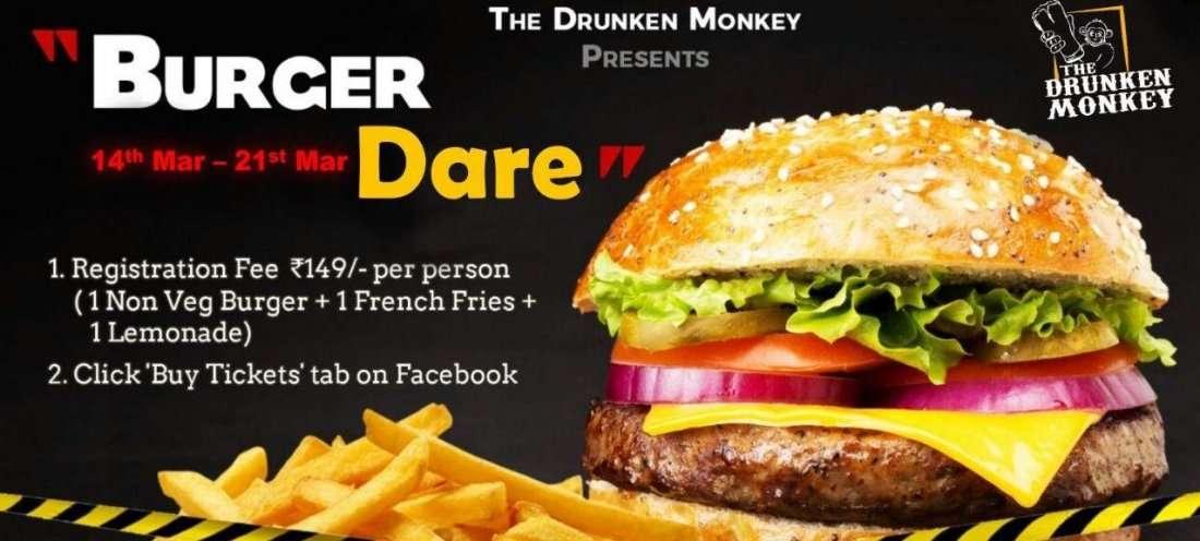Burger Dare The Drunken Monkey