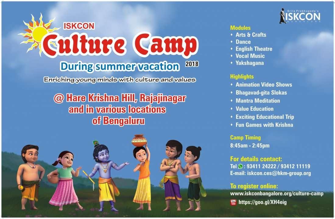 Culture Camp at ISKCON- 2018