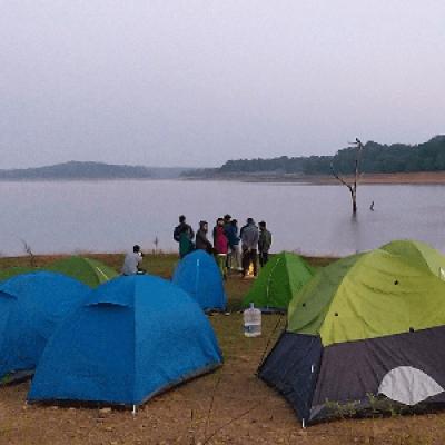 Sharavathi backwaters trek and camping