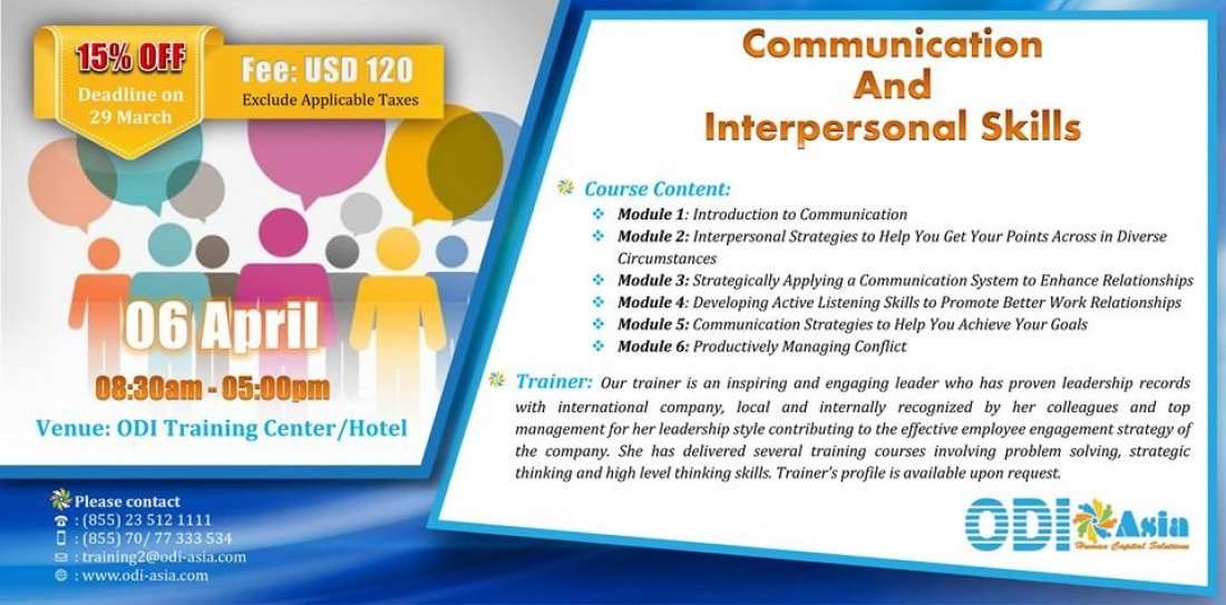Communication and Interpersonal Skills at ODI Asia Co ,Ltd