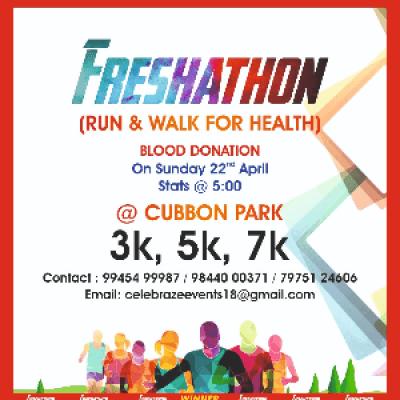 FRESHATHON (RUN FOR HEALTH ) &amp BLOOD DONATION