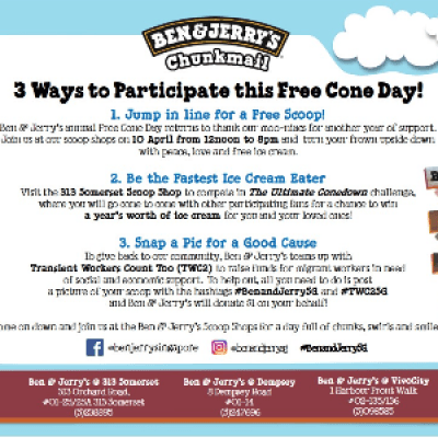 Ben &amp Jerrys Free Cone Day is back on 10 Apr