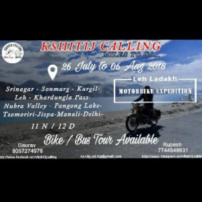 Kshitij Calling Leh Ladakh Tour 2018