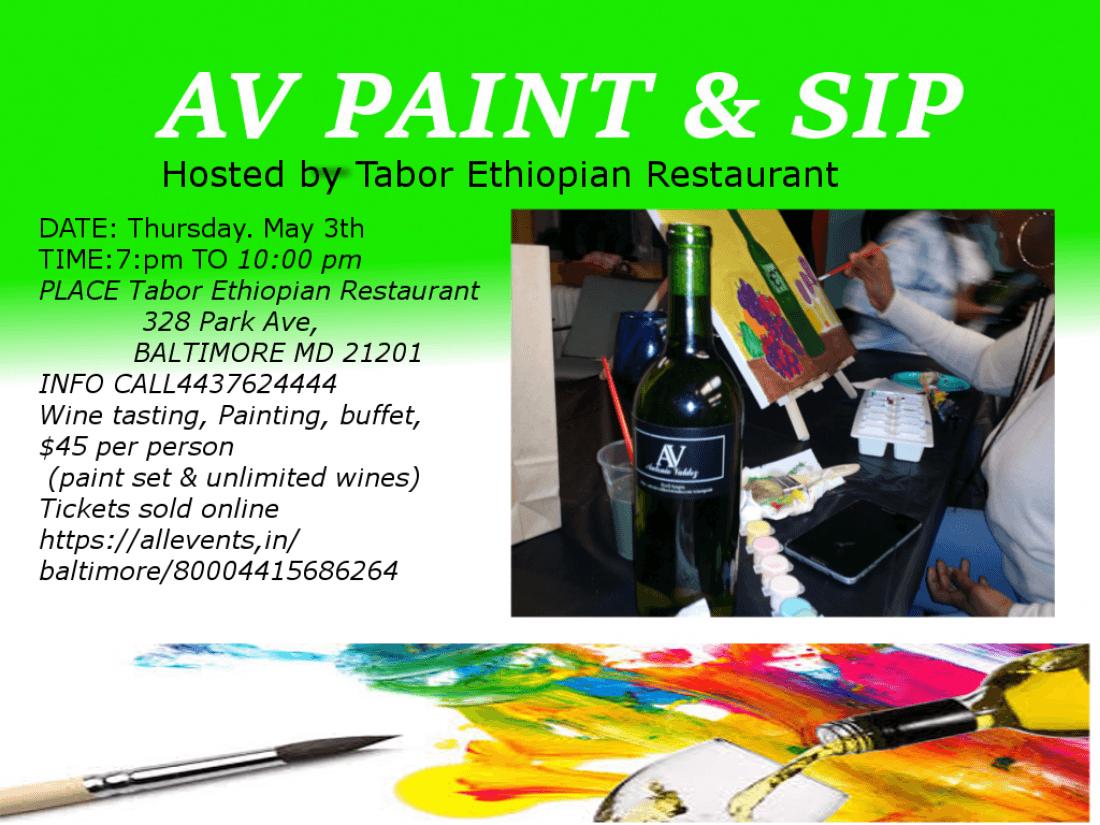 Av Paint Sip Tabor Ethiopian Restaurant Baltimore