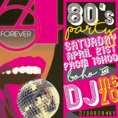 80s party Studio 54