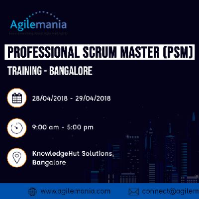 Professional Scrum Master (PSM) Training  Bangalore
