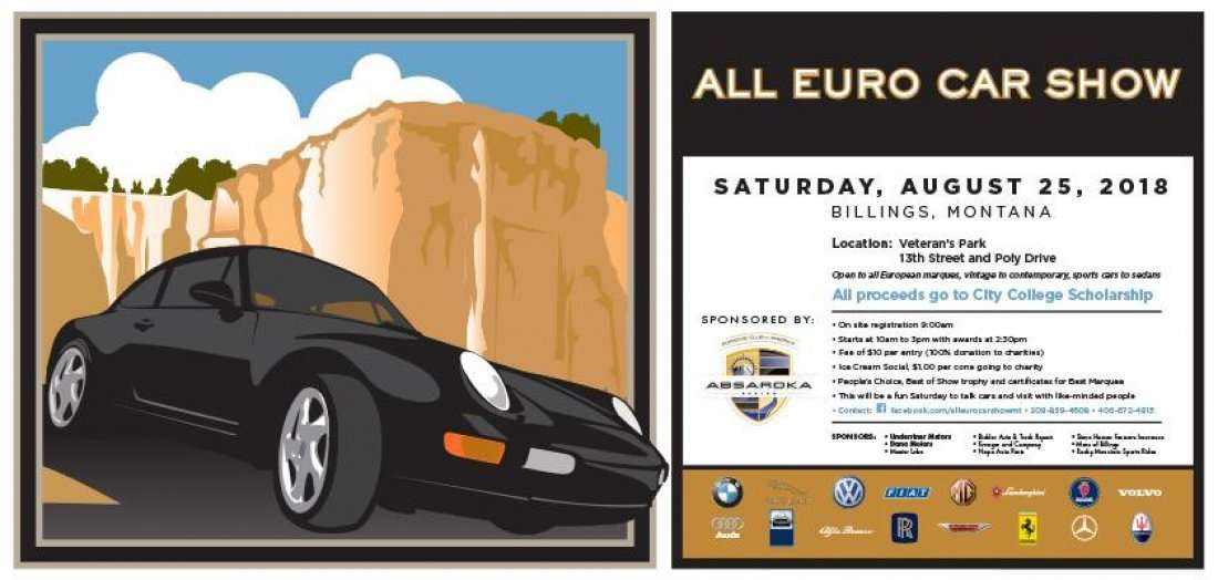 All Euro Car Show At Veterans Park Billings