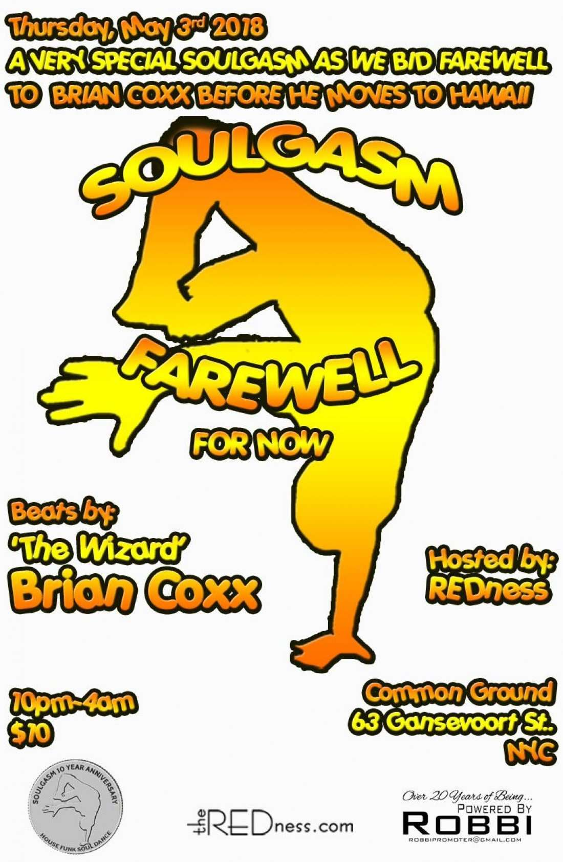 Soulgasm-NYC Finale-Farewell & Aloha DJ Brian Coxx