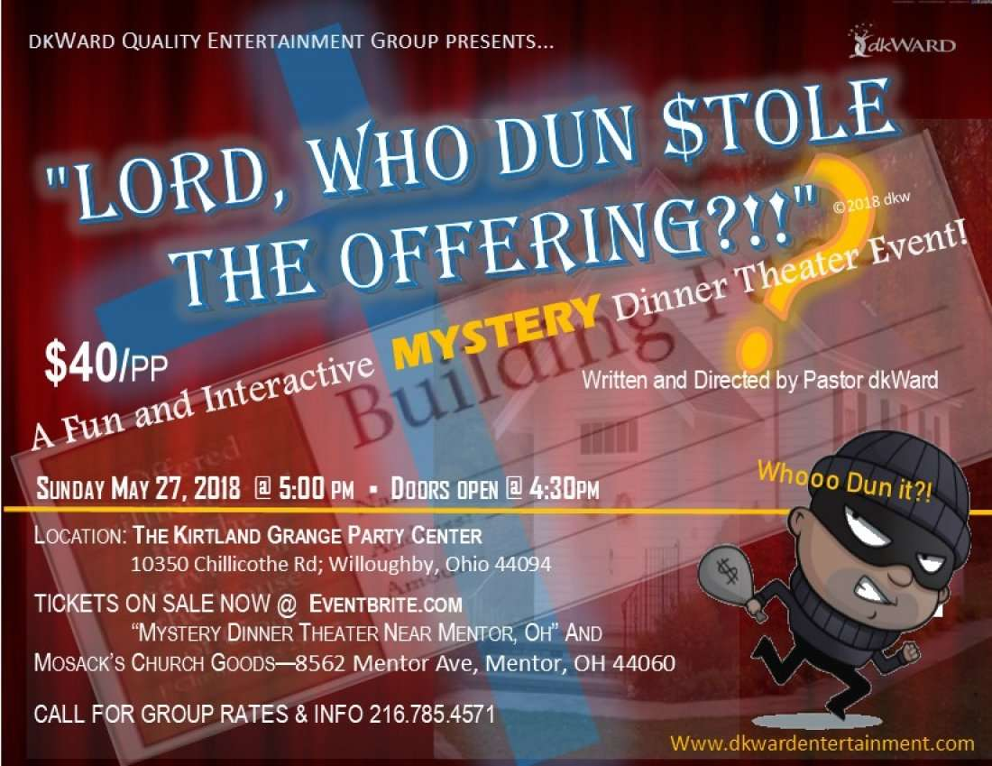 Mystert Dinner Theater Near Mentor Ohio Lord Who Dun Stole The