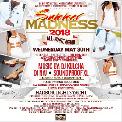 &quotSummer Maddness&quot Afterwork Yacht party