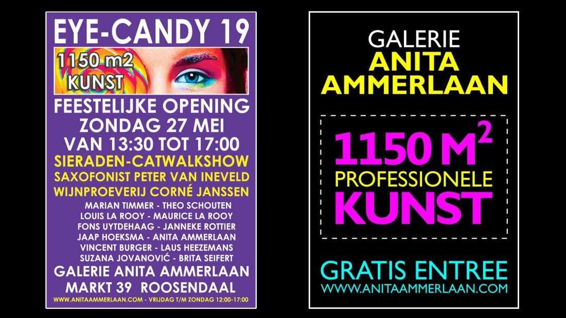 Vernissage expositie Eye-Candy 19 bij Galerie Anita Ammerlaan(1150m2)