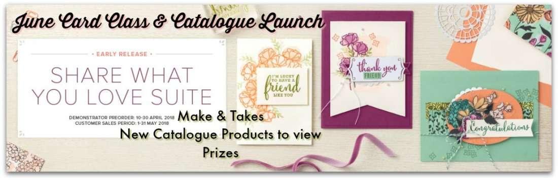 June Card Class & Catalogue Launch