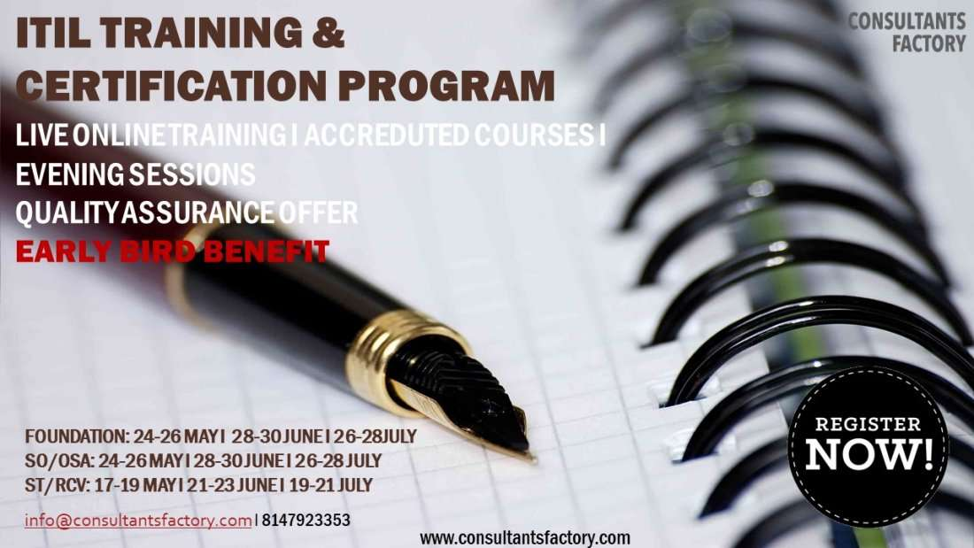 Itil Foundation Certification Training At Bangalore Weekend Batches