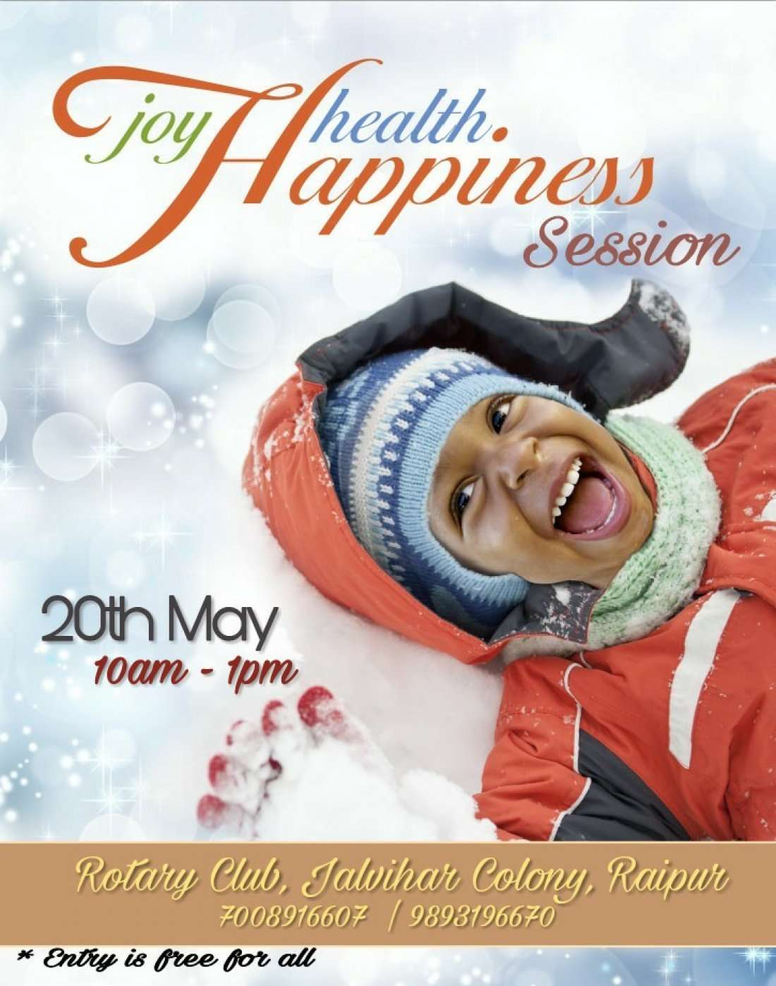 Joy Health and Happiness Session