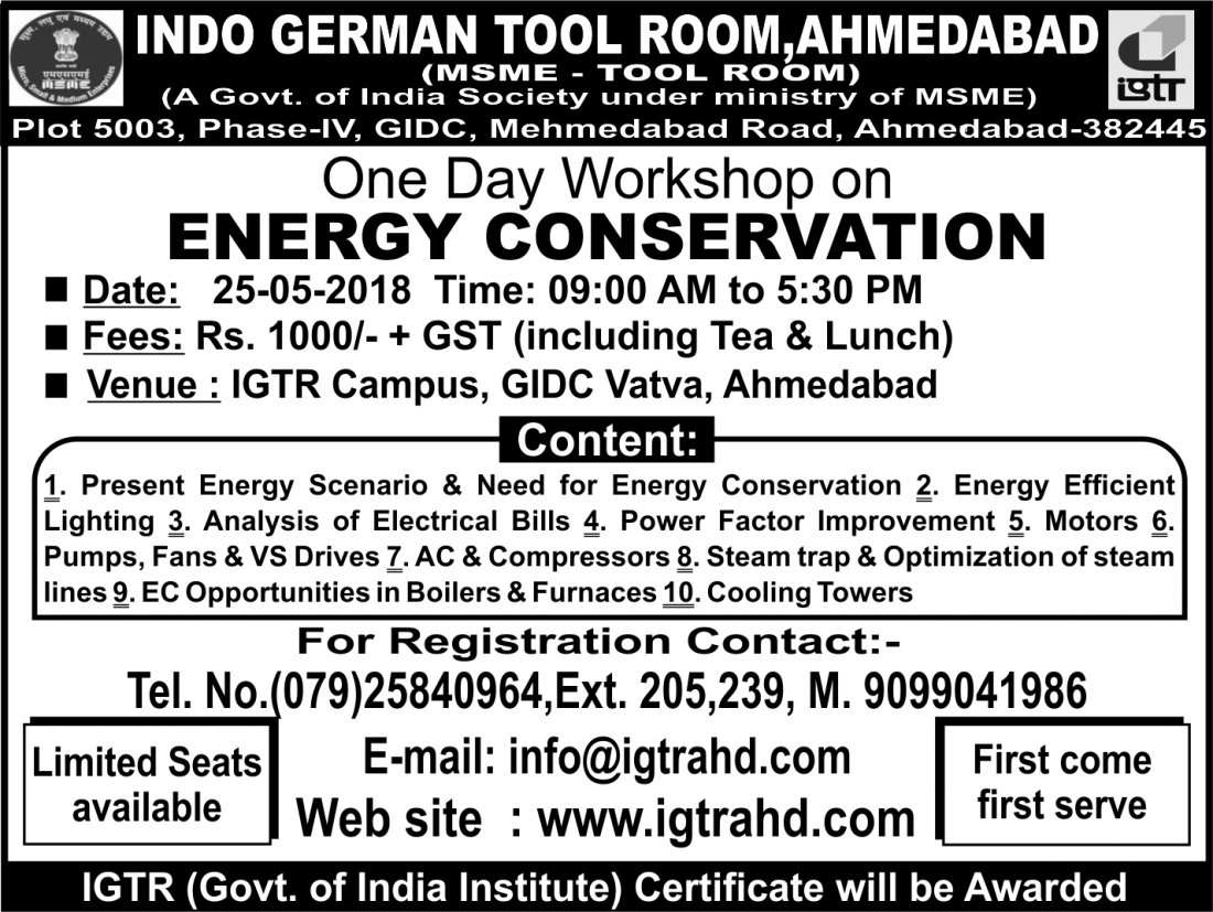 One Day Workshop on Energy Conservation