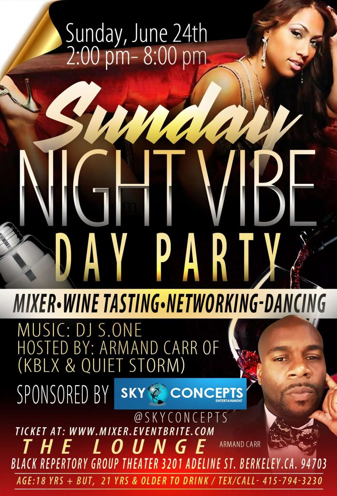 Sunday Day Party Mixer Sunday June 24th