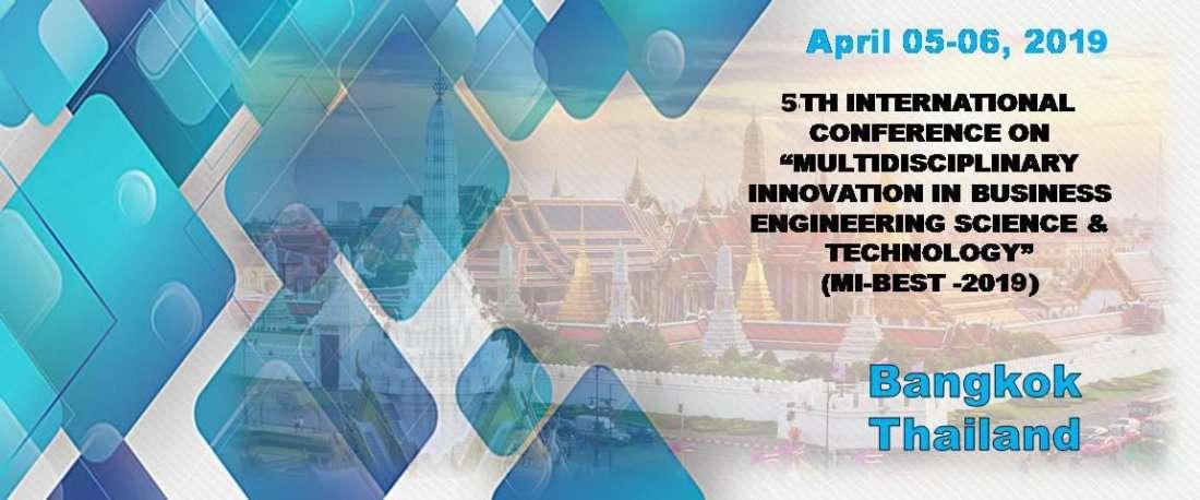 5TH  MULTIDISCIPLINARY INNOVATION IN BUSINESS ENGINEERING SCIENCE & TECHNOLOGY (MI-BEST -2019)