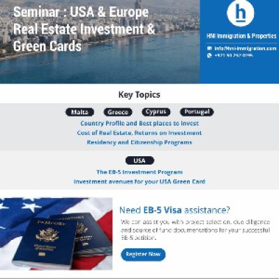 Immigration &amp Real Estate Seminar for Investors  USA &amp Europe