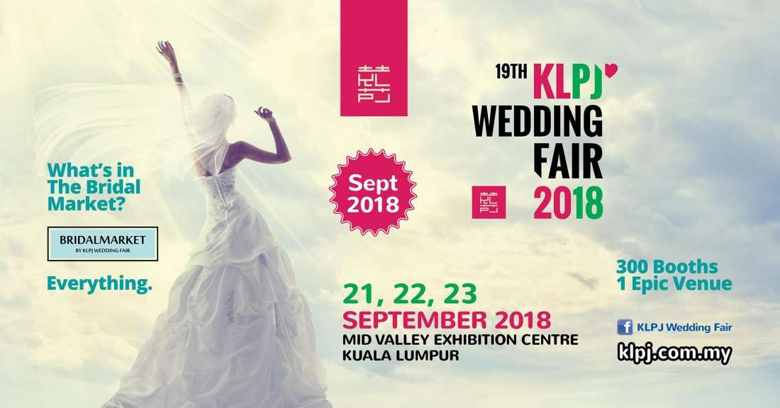 19th KLPJ Wedding Fair 2018 (SEPTEMBER 2018) Mid Valley Exhibition Centre