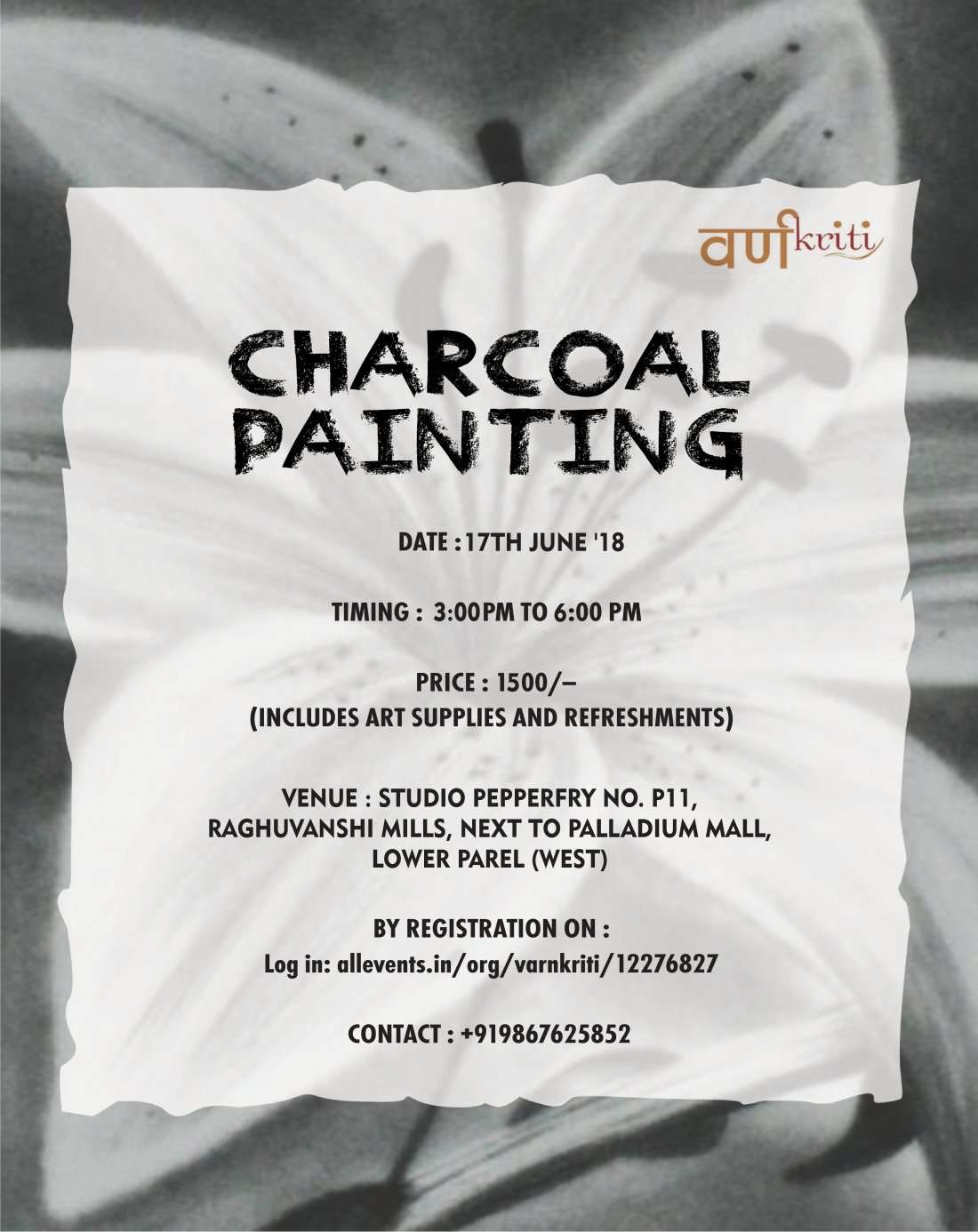 Charcoal Sketching Workshop