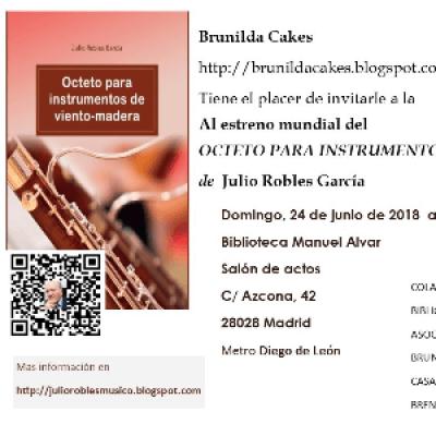 Estreno del &quotOcteto para instrumentos de viento - madera&quot de Julio Robles Garca
