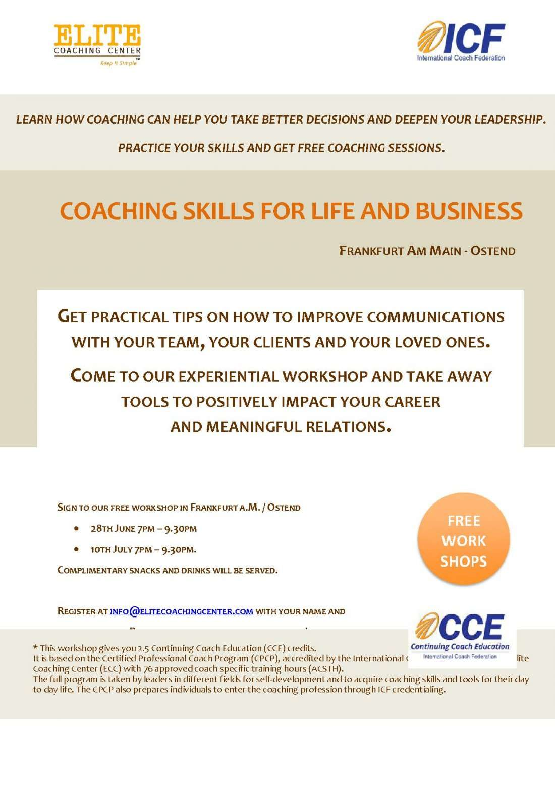 Coaching skills for life and business