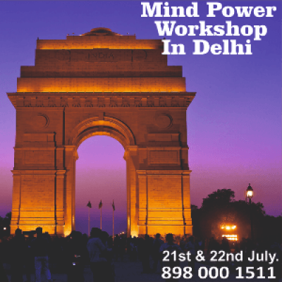 DR.ADHIAS MIND POWER WORKSHOP IN DELHI
