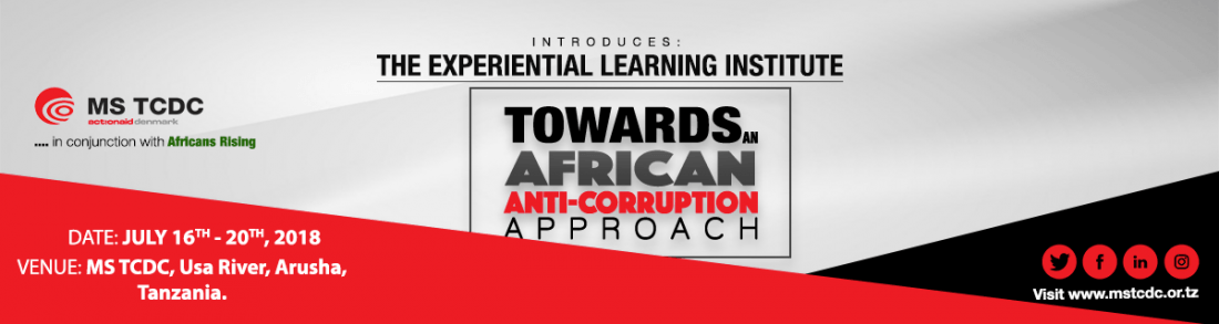 Invitation to Experiential Learning InstituteTowards an African Anti-Corruption Approach