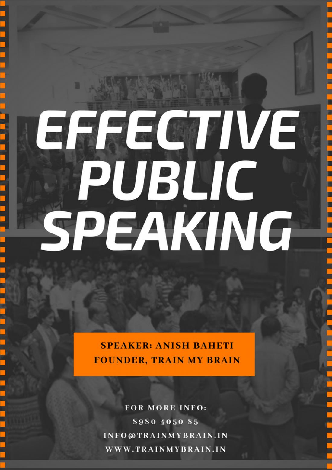 Effective Public Speaking