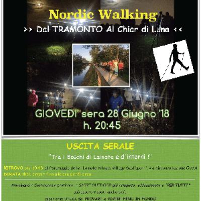 NORDIC WALKING >> Dal TRAMONTO Al Chiar di Luna << a LAINATE (MI)