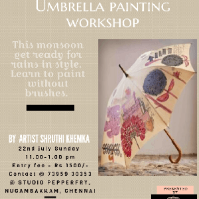 Umbrella painting workshop