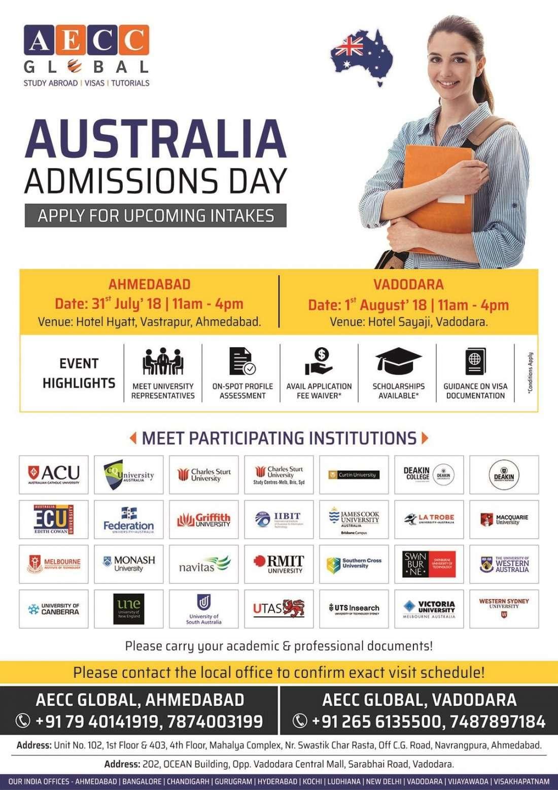 AECCs Australia Admissions Day