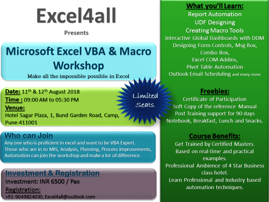 Excel VBA and Macro Training in Pune