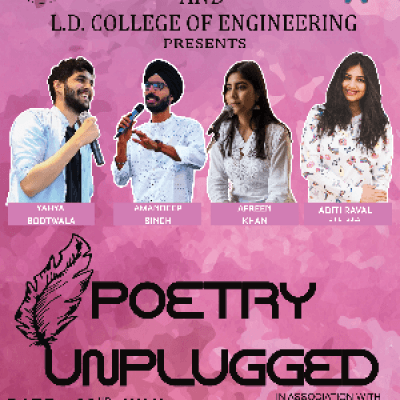 Poetry Unplugged Yahya Bootwala Amandeep Singh and Afreen Khan Live.