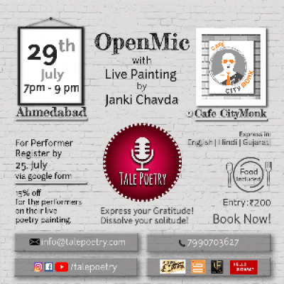 Tale Poetry  Open Mic with Live Painting  Ahmedabad