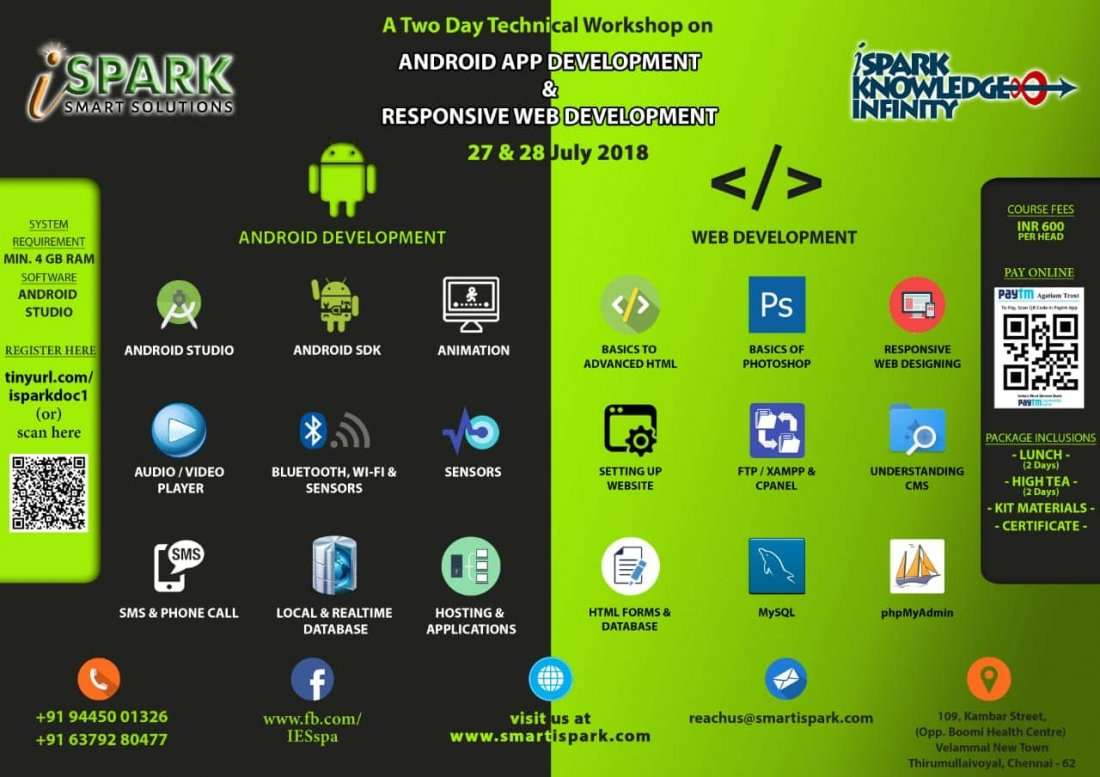 Two days Technical Workshop on App Development and Responsive Web