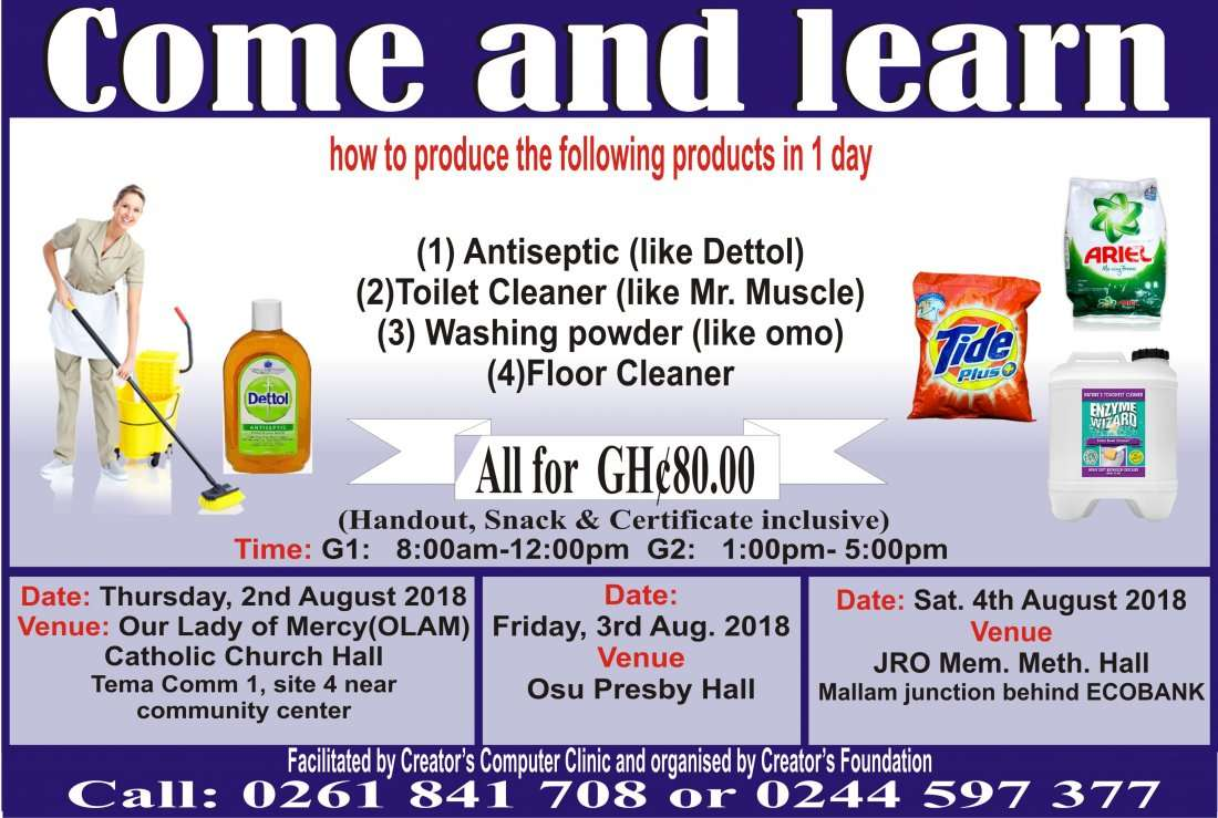 Detergent powder making training