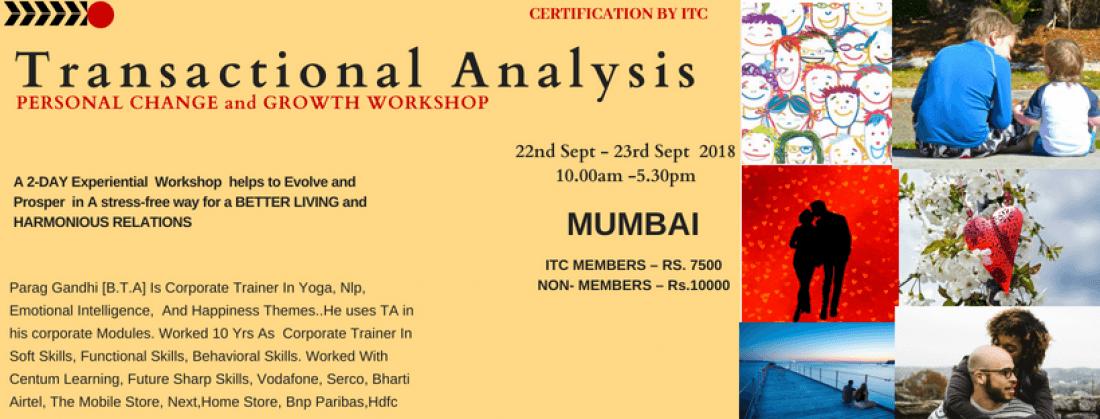 TRANSACTIONAL ANALYSIS WORKSHOP at Mumbai
